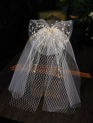 cheap -Four-tier Stylish Wedding Veil Shoulder Veils with Faux Pearl / Crystals / Rhinestones Tulle