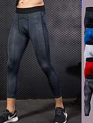 cheap -Men's Compression Pants Compression Base Layer Tights Bottoms Plus Size Lightweight Breathable Quick Dry Soft Sweat-wicking White Black Red Lycra Winter Road Bike Fitness Mountain Bike MTB Stretchy