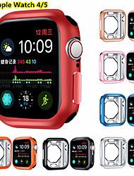 cheap -Screen Protector Case for Apple Watch Series 5 4 44MM 40MM TPU Rugged Bumper Case Cover All-Around Protective Plated Bumper Shell Accessories Scratch-Proof Compatible