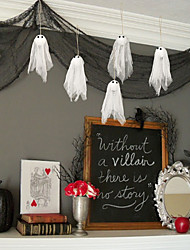 cheap -Halloween Party Toys Hanging Ghost 12 pcs Horror Thrilling Mischief Paper Kid's Adults Trick or Treat Halloween Party Favors Supplies
