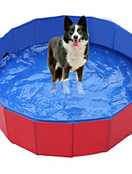 cheap -PVC Foldable Round Pet Dog Cat Swimming Pool Bath Pool Bath Tub Portable Outdoor Home Cat Puppy Pet Tub Bathtub