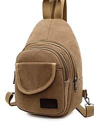 cheap -Men's Canvas Sling Shoulder Bag Canvas Bag Black / Blue / Khaki