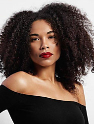 cheap -Synthetic Wig Afro Curly Middle Part Wig Long Black Synthetic Hair 16 inch Women's Easy to Carry Comfy Fluffy Black