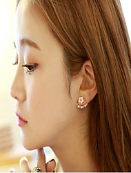 cheap -Sterling Silver Stud Earrings with Sparkling Glitter 1 Pair Wedding / Daily Wear Headpiece