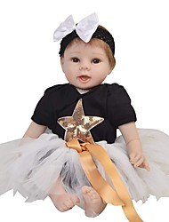 cheap -Reborn Baby Dolls Clothes Reborn Doll Accesories Cotton Fabric for 22-24 Inch Reborn Doll Not Include Reborn Doll Star Soft Pure Handmade Girls' 3 pcs