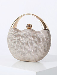 cheap -Women's Bags Polyester Evening Bag Solid Color Party Wedding Event / Party Evening Bag Wedding Bags 2021 Black Champagne Silver