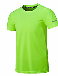 cheap -Men's T shirt Solid Colored Plus Size Mesh Short Sleeve Sports Tops Basic Sexy White Black Orange