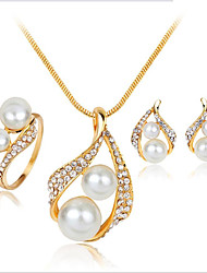 cheap -Women's Bridal Jewelry Sets Earrings Jewelry Gold For Wedding Party Daily Festival 1 set
