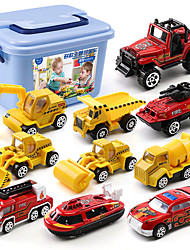 cheap -Construction Truck Toys Pull Back Car / Inertia Car Pull Back Vehicle Mini Crane Dozer Excavator Simulation Drop-resistant Alloy Mini Car Vehicles Toys for Party Favor or Kids Birthday Gift 10 pcs