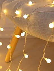 cheap -3M LED String Lights 20 LED Mini Balls Christmas Decoration Wedding Fairy Light Holiday Party Outdoor Courtyard Decoration Lamp USB Powered Christmas Gift
