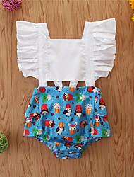 cheap -Baby Girls' Basic Print Sleeveless Bodysuit White