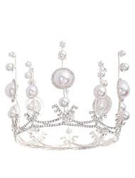 cheap -Sweet Fashion Alloy Tiaras with Rhinestone / Imitation Pearl 1 Piece Wedding / Special Occasion Headpiece