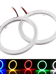 cheap -2pcs COB LED Angel Eyes 100MM 72 SMD 12V Auto Halo Ring Car Motorcycle With Cover White Blue Red Green Yellow Mix