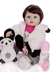 cheap -KEIUMI 19 inch Reborn Doll Baby & Toddler Toy Reborn Toddler Doll Baby Girl Gift Cute Washable Lovely Parent-Child Interaction Full Body Silicone 19D09-C131-T10 with Clothes and Accessories for