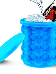 cheap -Ice Bucket 2 in 1 Silicone 2 Pcs Ice Mould with Lid Silicone Ice Cube Making Wizard Portable Silicone Barrel Machine Magic Icen Pop Maker 1pc