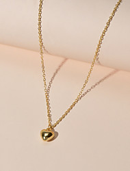 cheap -Women's Pendant Necklace Heart Cute Alloy Gold 40 cm Necklace Jewelry 1pc For Gift Festival