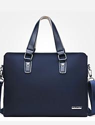 cheap -Men's Bags Oxford Cloth Synthetic Shoulder Messenger Bag Laptop Bag Briefcase Zipper Handbags Daily Outdoor Black Blue