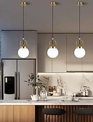 cheap -15 cm Single Design Pendant Light Metal Glass Modern 110-120V 220-240V