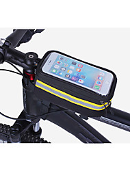 cheap -ROSWHEEL Cell Phone Bag Bike Handlebar Bag 5.5 inch Touch Screen Cycling for Samsung Galaxy S6 iPhone 5C iPhone 4/4S Black Orange Cycling / Bike / iPhone X / iPhone XR / iPhone XS / iPhone XS Max