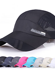 cheap -Cap Light Yellow White Black UV Resistant Quick Dry Breathability Men's Women's Letter & Number Fashion Mesh Satin Chiffon