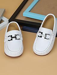 cheap -Boys' Loafers & Slip-Ons Moccasin Microfiber Little Kids(4-7ys) White Black Summer
