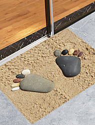 cheap -Sand Stone Feet Modern Bath Mats Nonwoven / Memory Foam Novelty Bathroom