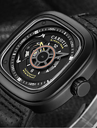 cheap -Men's Sport Watch Automatic self-winding Sporty Casual Large Dial Analog Black / Stainless Steel / Genuine Leather / Genuine Leather