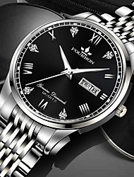 cheap -Men's Mechanical Watch Analog - Digital Quartz Stylish Classic Water Resistant / Waterproof Day Date / One Year / Stainless Steel