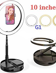 cheap -G1 Retractable 10-Inch LED Ring Light Live Fill Light Selfie Beauty Light Photography Lighting Equipment Bracket