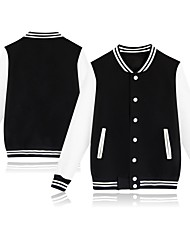 cheap -Men's Baseball Jersey Sports Fashion Cotton Jacket Long Sleeve Activewear Breathable Quick Dry Comfortable Black Pink Dark Navy