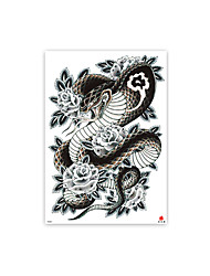 cheap -1 pcs tattoo designs Temporary Tattoos Oversized full back tattoo stickers full back waterproof environmental protection stickers TB01-010