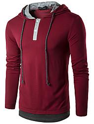 povoljno -Muškarci Hoodie Jednobojni Ležerne prilike Hoodies majica Lila-roza Vojska Green Tamno siva