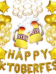 cheap -Party Balloons 31+10 pcs Oktoberfest Party Supplies Latex Balloons Boys and Girls Party Decoration 16inch for Party Favors Supplies or Home Decoration