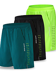 cheap -WOSAWE Men's Cycling Shorts Board Shorts Bike Shorts MTB Shorts Sports Solid Color Black / Green / Dark Navy Clothing Apparel Relaxed Fit Bike Wear / Micro-elastic