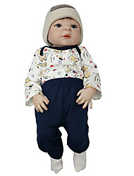 cheap -Reborn Baby Dolls Clothes Reborn Doll Accesories Cotton Fabric for 22-24 Inch Reborn Doll Not Include Reborn Doll Bull Soft Pure Handmade Girls' 4 pcs