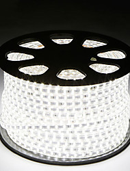 cheap -2M SMD 5050 LED Strip light Waterproof 220V 5050 LED Strip Lights Diode Tape Holiday Decoration Lamp LED String Ribbon 60LEDs/M With EU Plug