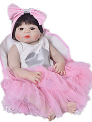cheap -Reborn Baby Dolls Clothes Reborn Doll Accesories Cotton Fabric for 22-24 Inch Reborn Doll Not Include Reborn Doll Heart Soft Pure Handmade Girls' 3 pcs