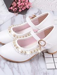 cheap -Girls' Comfort PU Flats Little Kids(4-7ys) White / Pink Summer