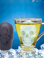 cheap -Halloween Ice Grid Cake Baking Single Hole Skull Ice Grid Silica Gel Ice Mold Mousse Mold Ice Tools Full Body Silicone Cute Party Evening Drinkware