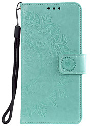 cheap -Phone Case For OPPO Full Body Case Leather Flip Oppo Find X2 realme 6 Pro Oppo A8 / A31 Card Holder Flip Pattern Flower / Floral PU Leather TPU