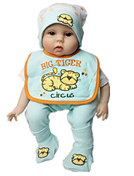 cheap -Reborn Baby Dolls Clothes Reborn Doll Accesories Cotton Fabric for 22-24 Inch Reborn Doll Not Include Reborn Doll Tiger Soft Pure Handmade Boys' 5 pcs
