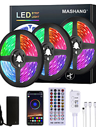 cheap -15M LED Strip Lights RGB LED Light Strip Music Sync LED Strip 5M 10M 20M 2835 SMD Color Changing LED Strip Light and 40 Keys Remote Bluetooth Controller for Bedroom Home TV Back Lights