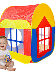 cheap -Play Tent & Tunnel Playhouse Tent Pretend Play House Foldable Convenient Novelty Polyester Nylon Indoor Outdoor Spring Summer Fall Boys' Girls' Pop Up Indoor/Outdoor Playhouse for Boys and Girls