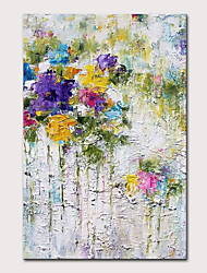 cheap -Mintura Hand Painted Modern Abstract Flowers Oil Paintings on Canvas Wall Picture Pop Art Posters For Home Decoration Ready To Hang With Stretched Frame