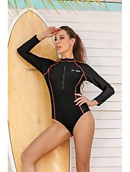 cheap -Women's Casual / Sporty Briefs One-piece Swimwear Swimsuit - Solid Colored Zipper S M L Black