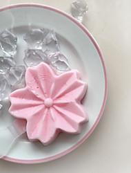 cheap -4 Slot Set Popsicle Ice Cream Maker Molds Tray Sakura Cherry Flower Bear Claw Strawberry Shape Summer DIY Ice Mould