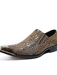 cheap -Men's Loafers & Slip-Ons Dress Shoes Daily Party & Evening Cowhide Handmade White Summer