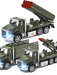 cheap -Construction Truck Toys Pull Back Car / Inertia Car Pull Back Vehicle Military Vehicle Rocket & Spaceship Missile Truck Sounds Lights Drop-resistant Alloy Mini Car Vehicles Toys for Party Favor or