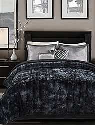 cheap -fuzzy faux fur throw blanket - light weight blanket for bed couch and living room suitable for fall winter and spring (twin)