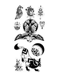 cheap -TL081-090 1 Pcs Tattoo Designs Temporary Tattoos Eco-friendly / Water Resistant / New Design brachium / Chest Paper Tattoo Stickers